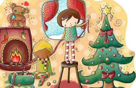 Auguri natalizi addobbati