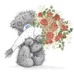 Biglietto di buon compleanno all'amata (abbinato a mazzo di fiori)