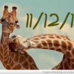 Oggi é l'11-12-13! 345° giorno dell'anno!