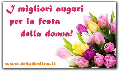Auguri sinceri per l'8 marzo!