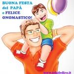Dedica d'auguri per la festa del papà e l'onomastico