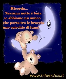 L'amicizia vera rischiara il buio della notte