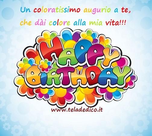 Buon compleanno in multicolor!