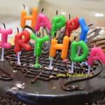 Torta di compleanno per auguri cioccolatosi!