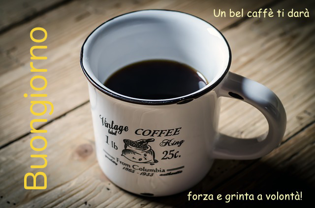 Buongiorno con caffè espresso per partire alla grande!