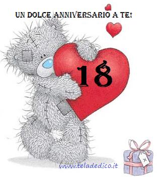 Auguri amore mio per il nostro anniversario: diciotto anni!